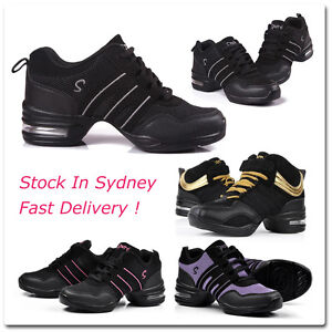 Womens-Girls-Mesh-Fabric-Upper-Dance-Shoes-Dance-Sneakers-for-Hip-Hop-Jazz