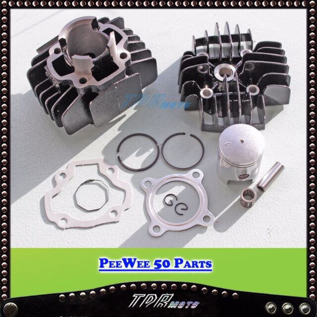ENGINE CYLINDER HEAD PW PY PISTON REBUILD KIT SET FOR YAMAHA PY50 PW50 PEEWEE 50