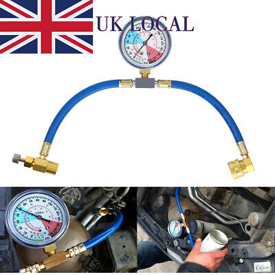 R134A Air Conditioning Refrigerant Recharge Measuring Hose Gauge Universal Fit