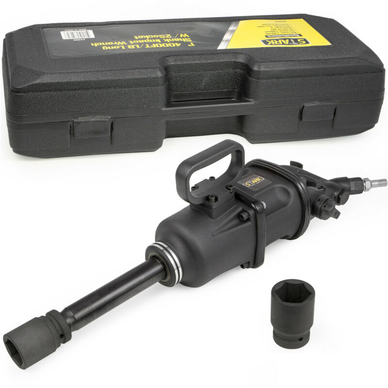 "4000FT/LB Air Impact Wrench 1"" Drive Gun Long Commercial Truck w 2 Sockets Shank"