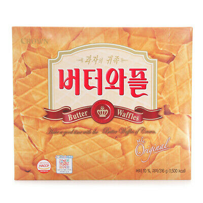 Korean Snack CROWN BUTTER WAFFLES 316g Delicious Good Snack With Coffee