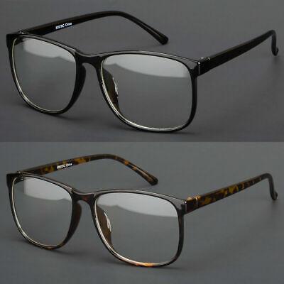 Large Oversized Vintage Glasses Clear Lens Thin Frame Nerd Glasses Retro (Large Clear Glasses)