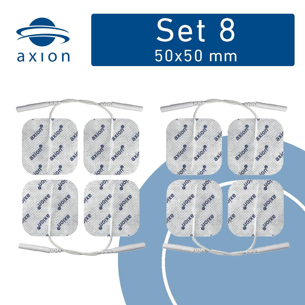 8 Elektroden Pads 50x50mm für Muskel-Nervenstimulator tens ems Gerät 2mm Stecker