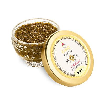 Fresh Farmed Osetra Russian Karat Caviar, Pure Gold - 1 oz Fresh Osetra Caviar