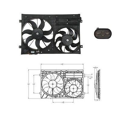 Dual Radiator & Condenser Fan Fits: 2009-2014 Audi TT/TT Quattro NON Convertible