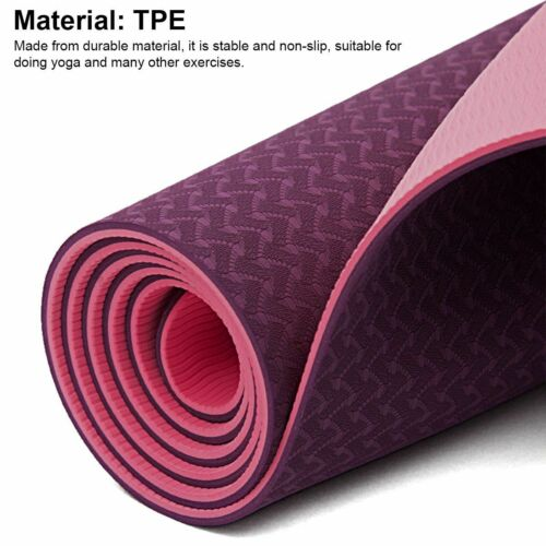 """72"""" Thick Yoga Mat Gym Camping Non-Slip Fitness Exercise Pilates Meditation Pad 8"""