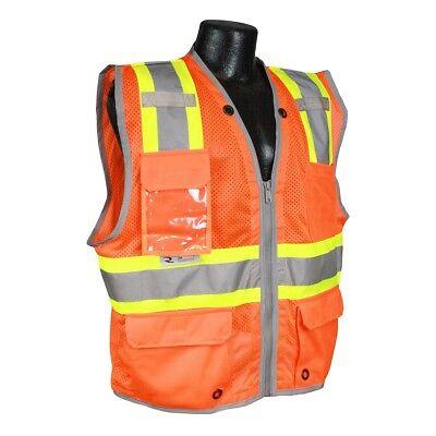 Radians Class 2 Heavy Duty Two-tone Surveyor Safety Vest Orange