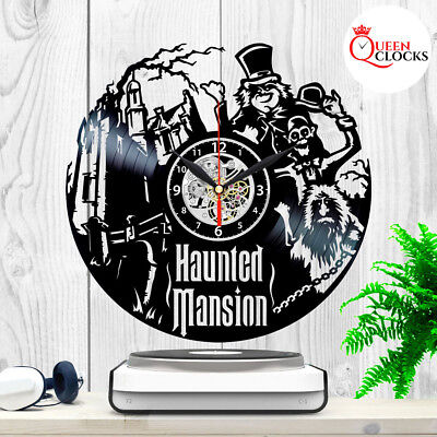 The Haunted Mansion Disney Vinyl Record Wall Clock Disneyland Decor Best (Best Haunted House Decorations)