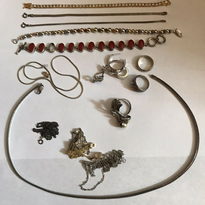 Sterling Silver Jewelry Scrap Lot 115 Grams