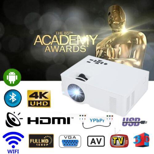 5600lms Full HD Android 6.0 Beamer Bluetooth Heimkino Videospiel 3D 4K HDMI VGA