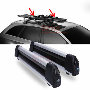 Flat Car Top Roof Rack Ski Snowboard Carrier Mount For 4 Snowboard or 6 Pair Ski