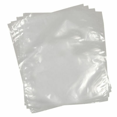 100 Clear Polythene Plastic Bags 10