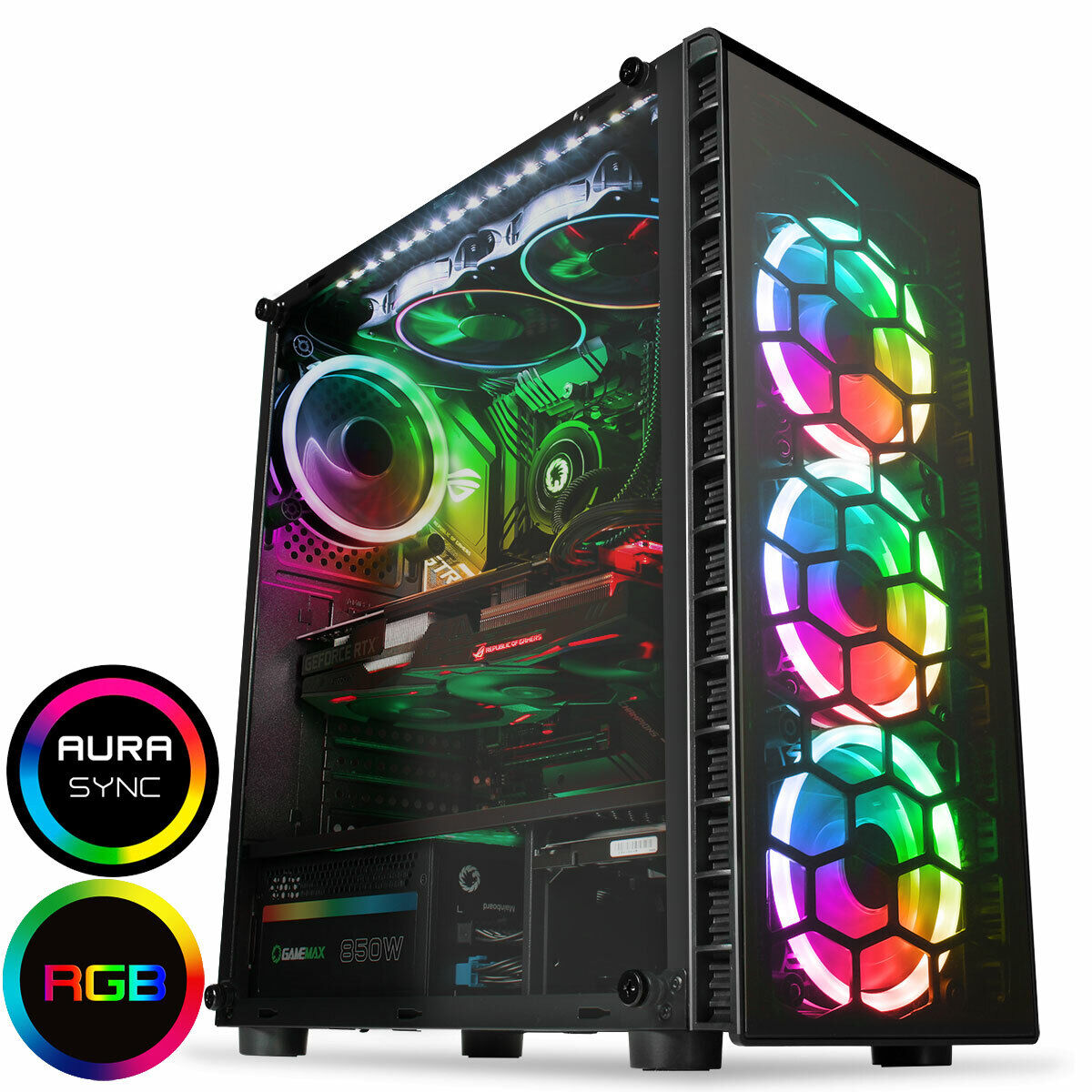 Computer Games - Quad Core  i7 Desktop Gaming Computer PC 2TB + SSD 16GB RAM GTX 1660 Win10