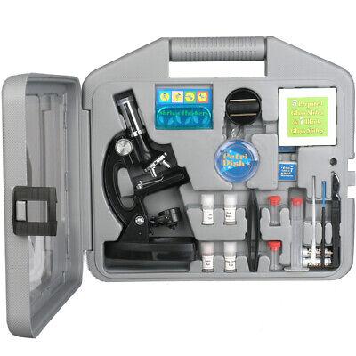 Amscope 52pc 120x-1200x Starter Led Microscope Science Kit For Kids Black