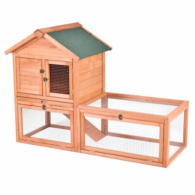 56 Pet Supplies Wooden House Rabbit Hutch Chicken Coops Cage for sale  Fontana