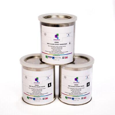 Black Epoxy Resin 100 Solids For Garage Floorplywood Concrete. 3 Qt Kit