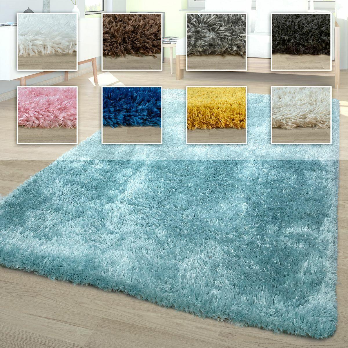 Waschbarer Hochflor Teppich Shaggy Flokati Look In Versch. Farben u. Größen