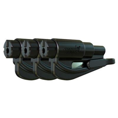 resqme® Car Escape Tool - Black, 3 pack, Seatbelt Cutter / Window Breaker