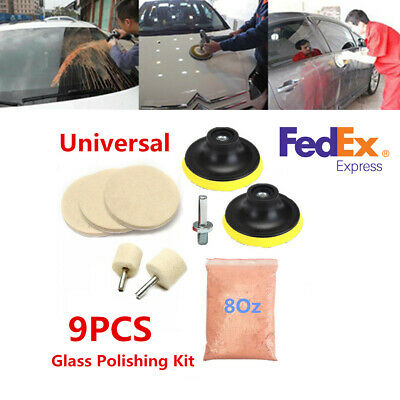 9Pcs Glass Polishing Kit Car Windows Glass Scratch Removal Polishing Wheels Pad