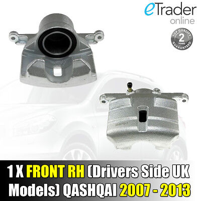 For Nissan Qashqai Front Brake Caliper 2007-2013 Right Drivers Side O/S NEW UK