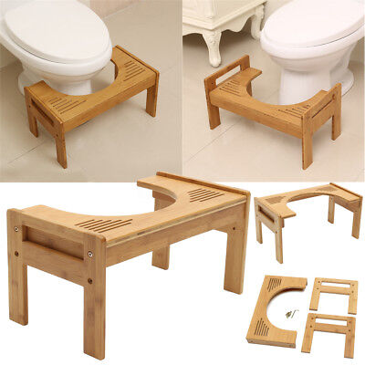 Bamboo Non Slip Sit And Squat Squatty ECO Potty Toilet Stool Healthy Colon NEW