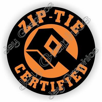 Funny Zip-tie Certified Hard Hat Sticker Welding Helmet Safety Motorcycle Biker