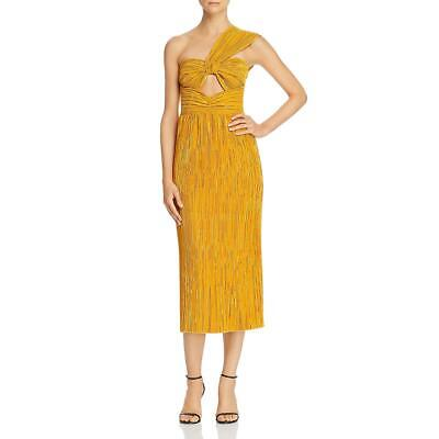 Alice Mccall Womens Power Lady Yellow One Shoulder A-line Midi Dress 2 2486