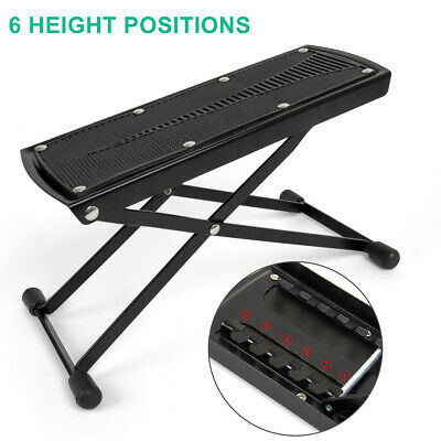 Guitar Foot Stool Rest Adjustable Height Angle Non-slip Rubber Pad 6 Footstool