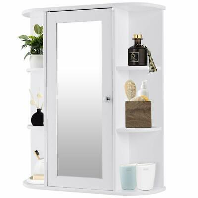 Wall Mount Cabinet Multifunction Storage Bathroom Medicine Kitchen Organizer
