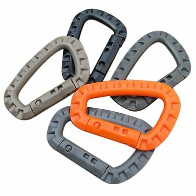 AA Shield Outdoor Carabiner D-Ring Clip Hook Carabine Plastic Camping Buckle 5PC