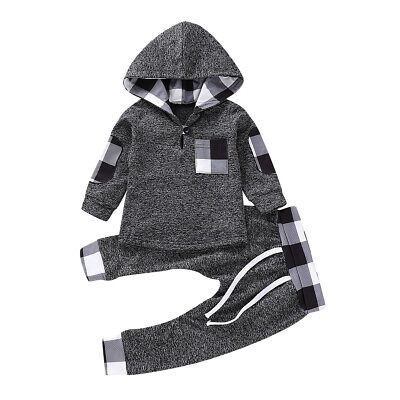 3M-3Y Toddler Newborn Baby Boys Girls Hoodie Tee Tops+Pants Outfits Clothes Set