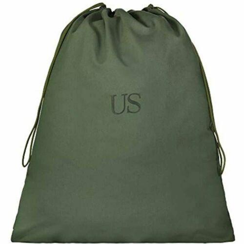 LAUNDRY BAG GENUINE GI US ARMY 100% Cotton Canvas OD Green Drawstring Closure