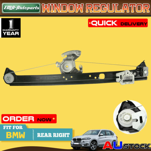 Rear Driver Side Power Window Regulator Replacement for 2000 2001 2002 2003 2004 2005 2006 BMW X5 V8