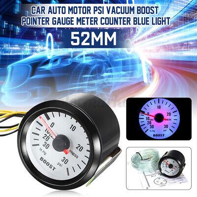 2'' 52mm Turbo Boost Pressure PSI Pointer Gauge Meter Dials 30Psi Pob LED UK