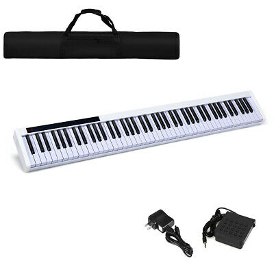 88 Key Digital Piano Portable MIDI Keyboard Bluetooth w/ Ped