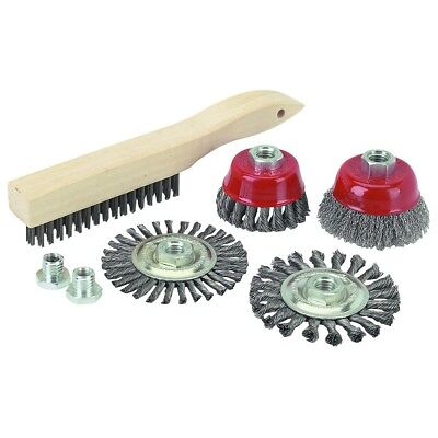 (7 PC FINE Knot Wire Cup Brush Twist Knotted Wheel Wired Brush (USA SELLER) SALE )