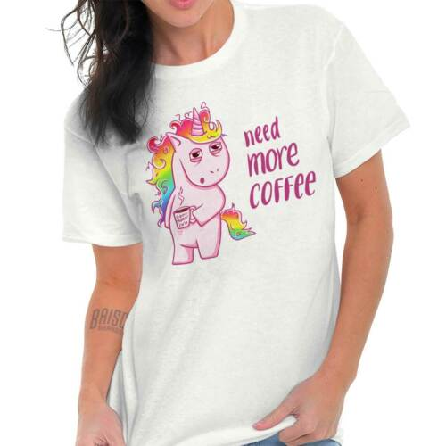 Need More Coffee Funny Unicorn Magical Gift T-Shirts T Shirt