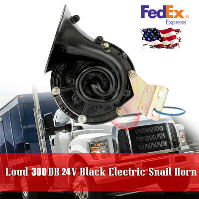 300DB 24V Air Horn Super Loud For 24V Vehicles Trucks Train Boat ABS & Metal