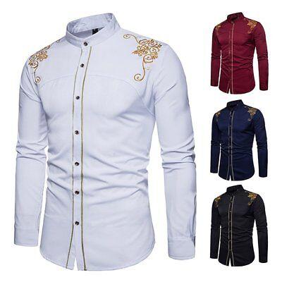 Fashion Best Man Luxury Casual Stylish Slim Fit Long Sleeve Casual Dress (Best Mens Slim Fit Dress Shirts)