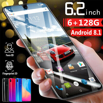 Android Phone - AU X23 6GB+128GB Android Dual SIM RAM 6.2 inch HD Camera Quad-Core Mobile Phone