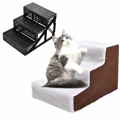 Pet Stairs Dog Steps Ramp Portable Folding Animal Cat Ladder with Cover Indoor