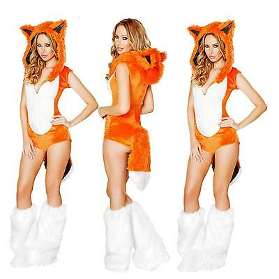 Women Ladies Sexy Fox Costume Cosplay Fanny Dress Party Outfit Halloween Wears](Halloween Women Outfits)