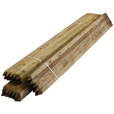 Tree Stakes 50 Pack Timber Wood Posts 1.35m Square Pegs 32mm Wide Garden Support