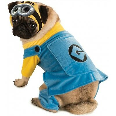 Minion Dog Costume Funny Pet Outfit Halloween Fancy Dress - Funny Pet Halloween Costumes