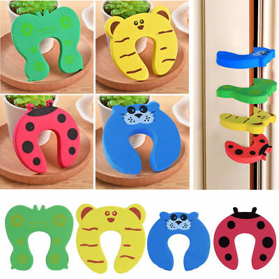 - 5/10pcs Children Baby Safety Cartoon Door Stopper Clip Clamp Pinch Hand Security