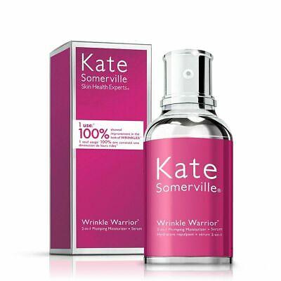 New Kate Somerville Wrinkle Warrior 2-in-1 Plumping Moisturiser and Serum 50ml