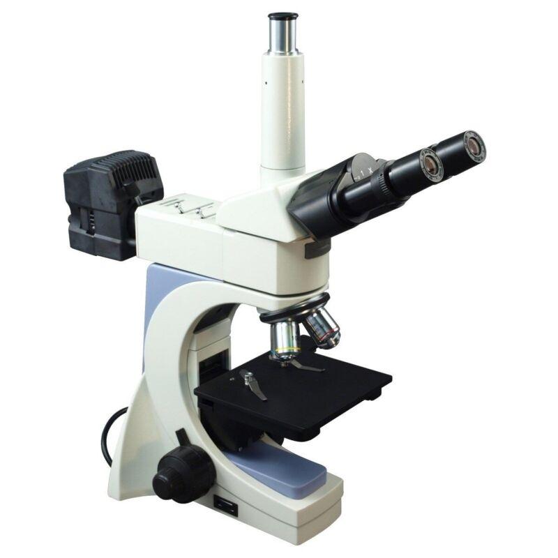 OMAX Trinocular Infinity Polarizing Metallurgical Microscope LongWD 40X Dry 100X