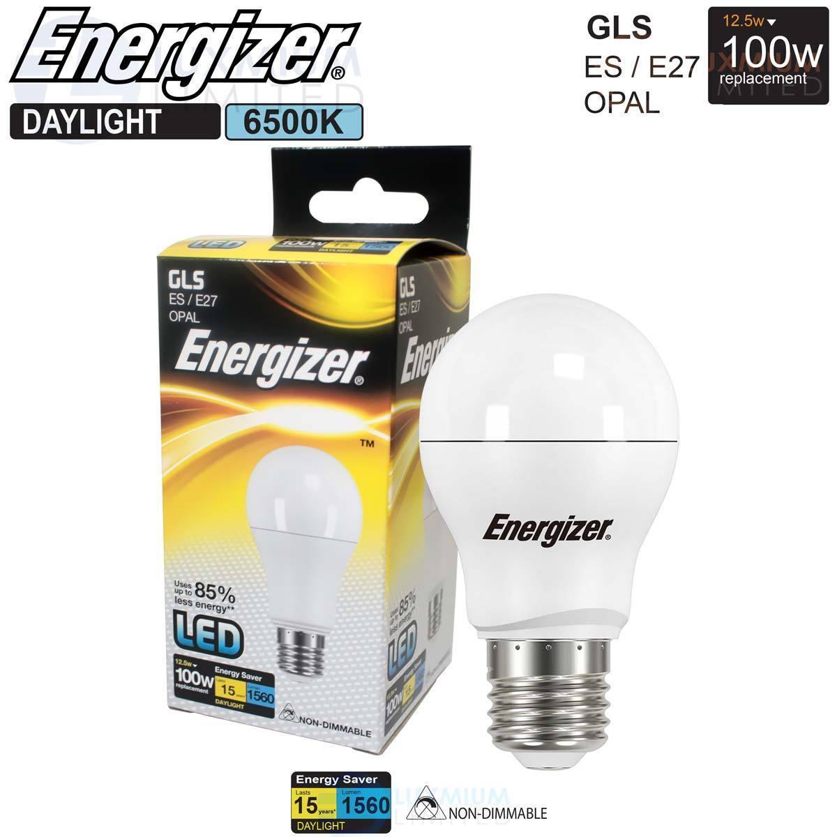 Energizer LED GLS Energy Saving Lightbulb E27 Daylight