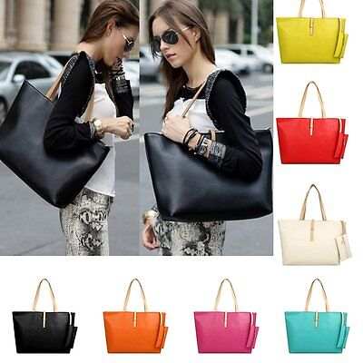 Women Large Leather Satchel Handbag Shoulder Messenger Crossbody Bag Tote Purse