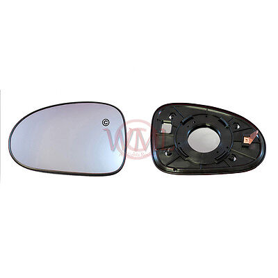 DAEWOO MATIZ 1998->2005 DOOR/WING MIRROR GLASS SILVER, NON HEATED&BASE,LEFT SIDE for sale  Stanmore